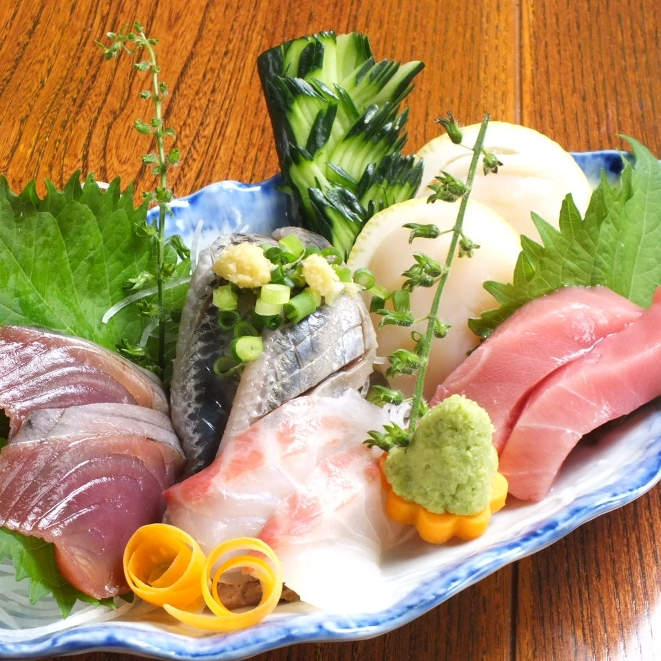 Masamisa special freshness preeminent !! Sashimi assorted 5 points serving 1 serving