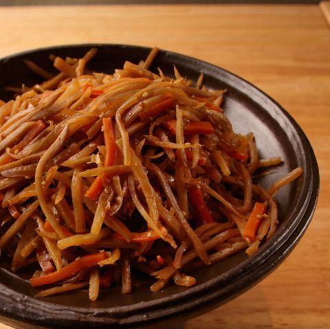 切碎煮熟的蔬菜