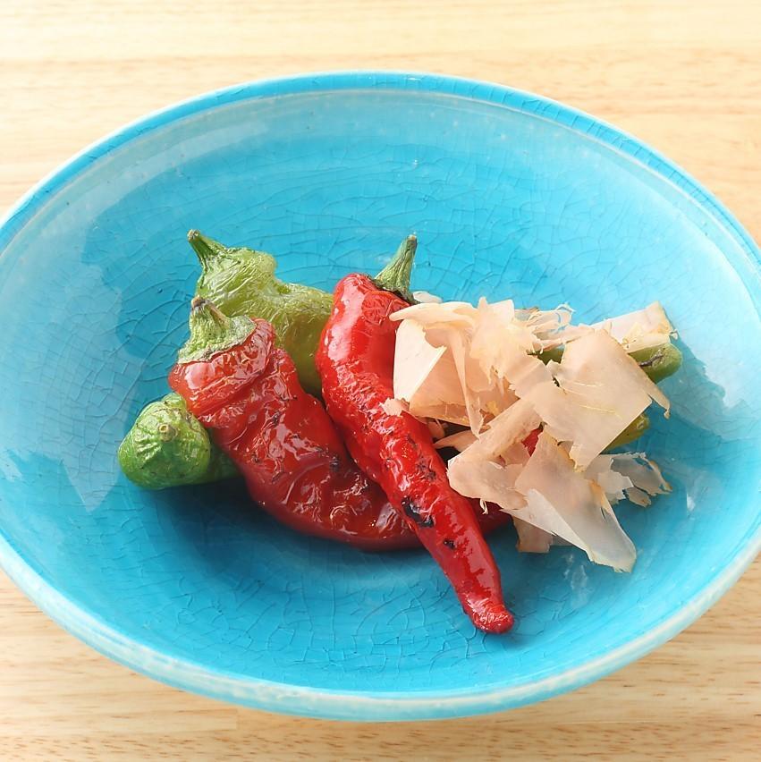 各种炭火烤蔬菜