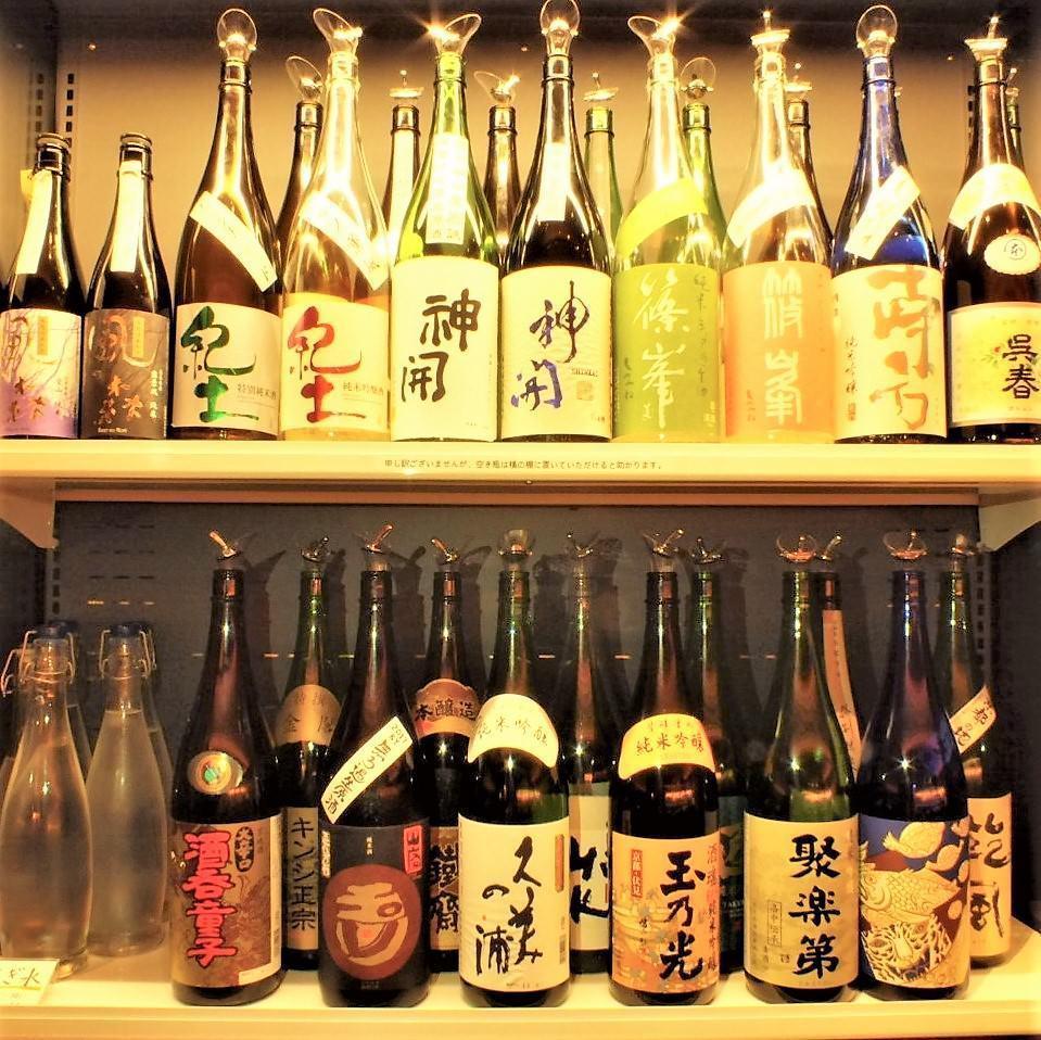 일본 전국에서 들여온 엄선 된 술 80 종