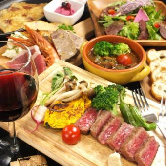 【Luxury evening party ... ☆】 Special selection j Kobe beef attached CHOUETTE Schuett luxury course ⇒ 4800 yen (tax included)