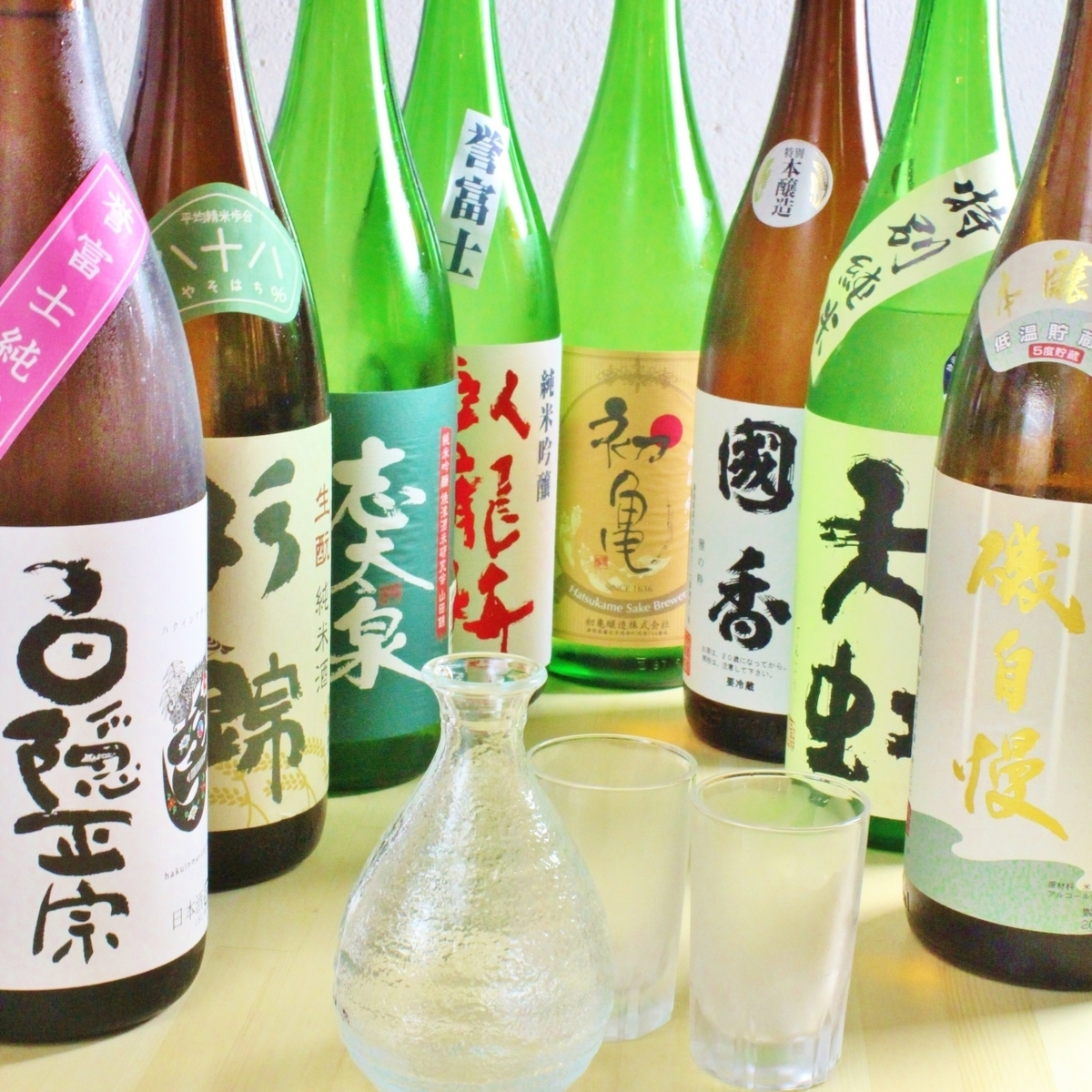 【About 15 kinds of local sake in Shizuoka】 Please leave sake.