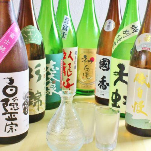 【静岡の地酒は約15種】日本酒もお任せください。