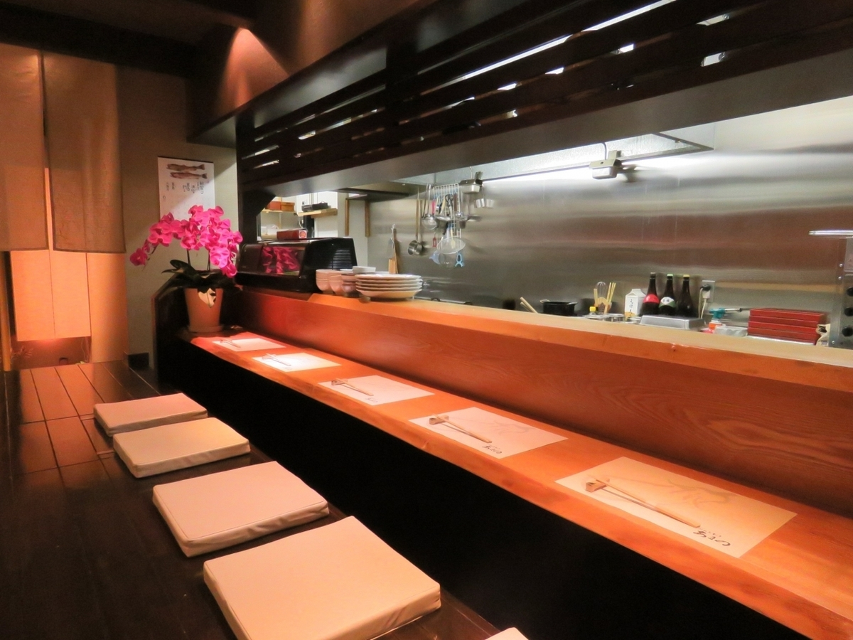 Counter seats that casually stop by.Please stop by us even.