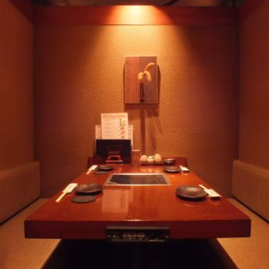 "【A large number of private rooms for 4 people】 You can feel the fun surrounding the winter pot in a Japanese style wall, private door room of the door.""Ginza / Shinbashi / Shiodome / Hinnichi chicken / Grilled chicken / Nabe / Japanese sake / Private room / All you can drink / Entertaining / Banquet / Drinking party / Izakaya"" The best seating for your family meal!"