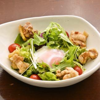 比内地鶏のシーザーサラダ