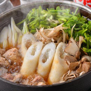 比内地鶏を満喫!秋田名物きりたんぽ鍋コース