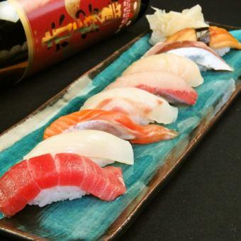 【寿司盛り宴会コース】こだわりのお寿司が楽しめるコースです!(4000円)