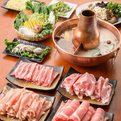 【120分食べ飲み放題】肉5種&野菜&キノコ食べ放題!20種飲み放題!4,580円コース!