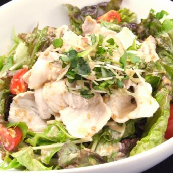 Plenty of sesame salad of pig shabu-shabu