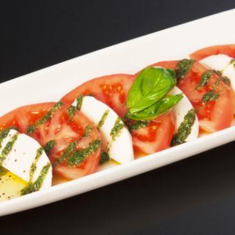 Caprese of tomato and mozzarella