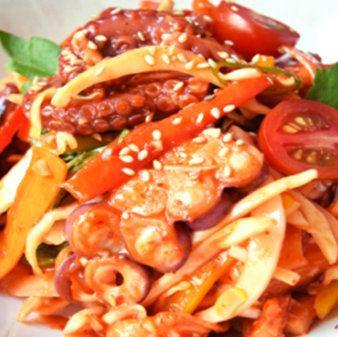 生ダコの韓国風カルパッチョ