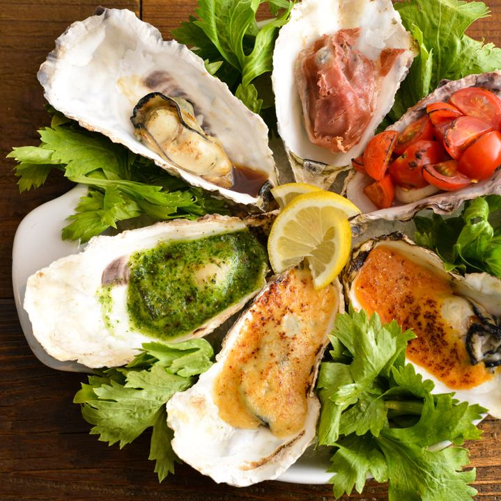 Baked of the popular Oyster mist to six kinds of oysters -