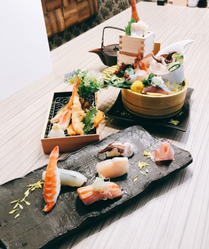 【Lunch time limited】 Tempura set lunch for lunch 1500 yen (tax included)