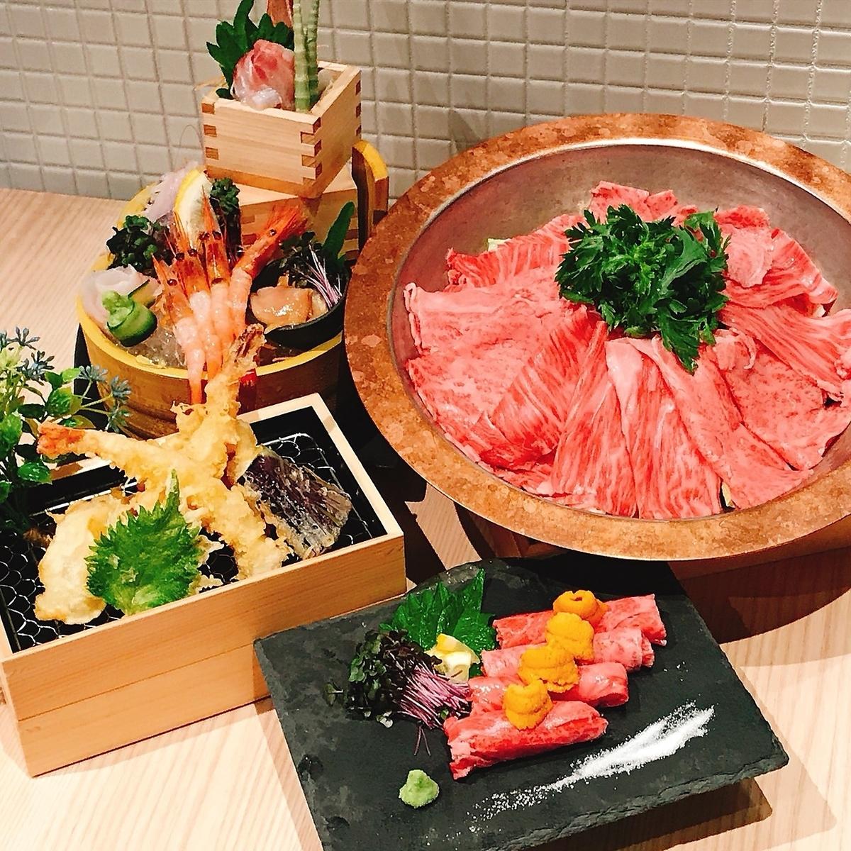 天ぷらと和牛専門店☆