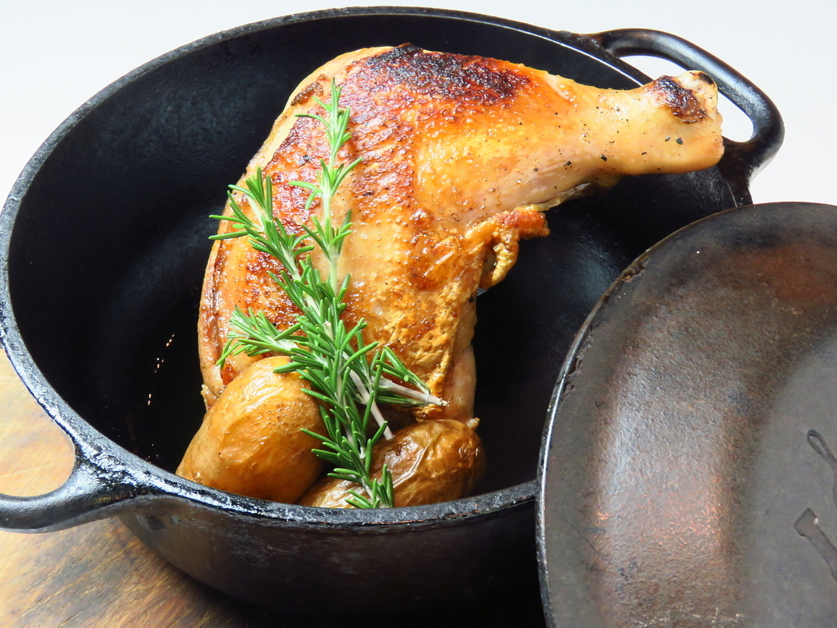 Grill of Dutch oven chicken