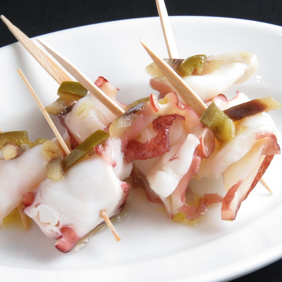 醃製辣鯖魚配章魚