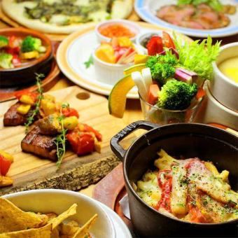 【Popular No. 1!】 Betty Roca Farmers' Course <90 minutes drink all you can eat> 10 items 4500 yen