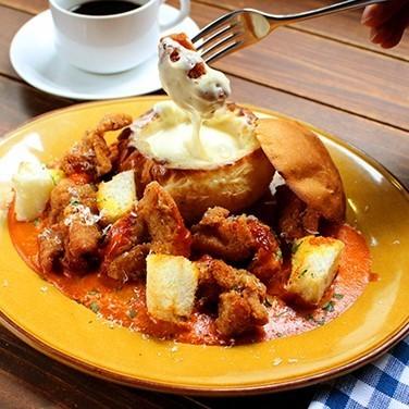 Pan-chicken lunch