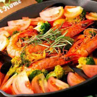 """Organic Detox"" plenty Kale's Bouillabais base tomato sauce course <90 minutes as you can drink> 4000 yen"