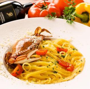 ■渡り蟹のトマトクリームソース