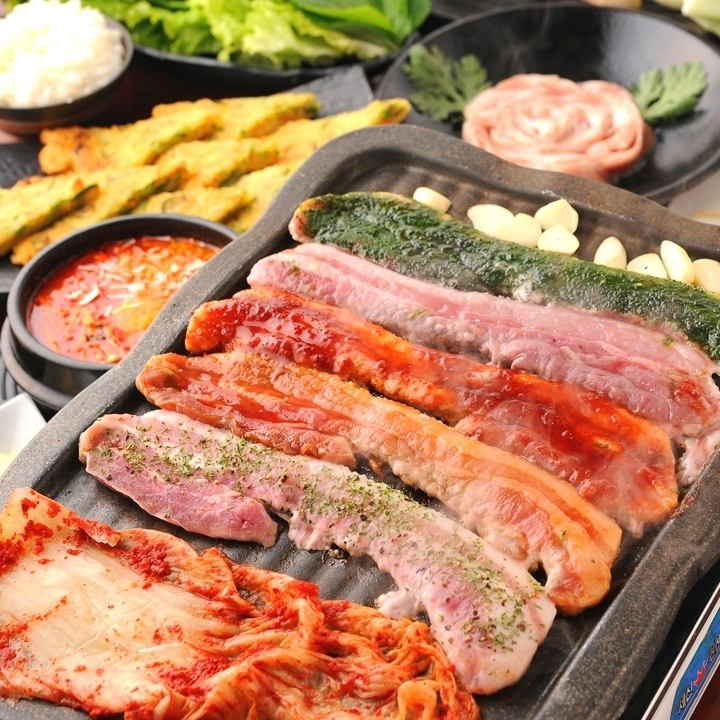 Samgyeopsal 60 minutes all you can eat ⇒ 1680 yen ★ 90 minutes eat all you can drink ⇒ 2980 yen