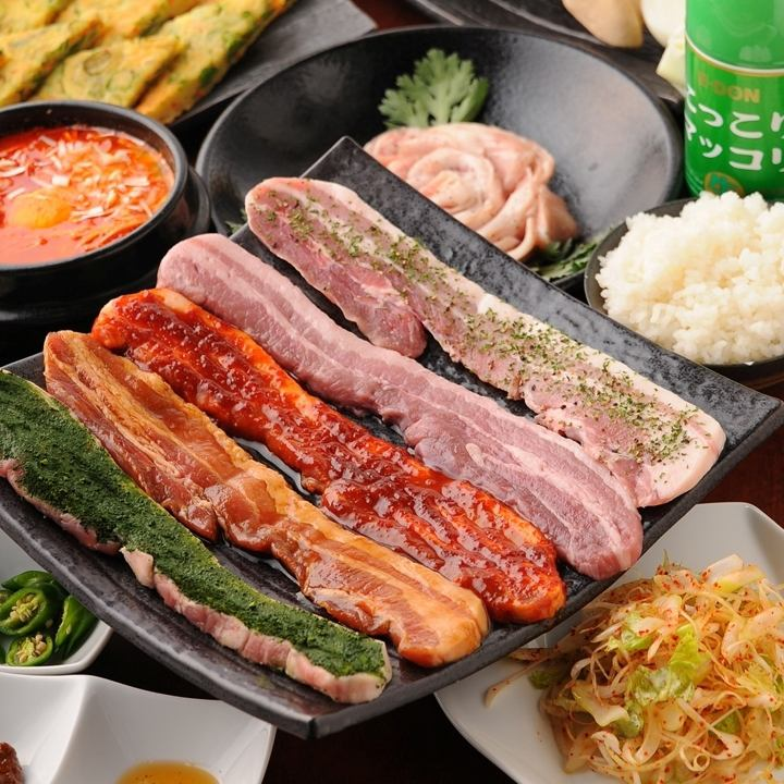 60-minute all-you-can-eat ⇒ [1680 yen] samgyeopsal all you can drink eat 90 minutes [2980 yen]