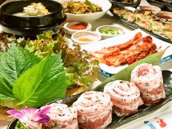 180分钟[原料五花肉全友可以吃所有你畅饮套餐]4480日元(2人)