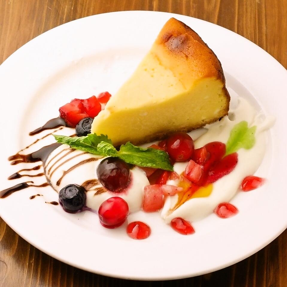 自家製本日のチーズケーキ