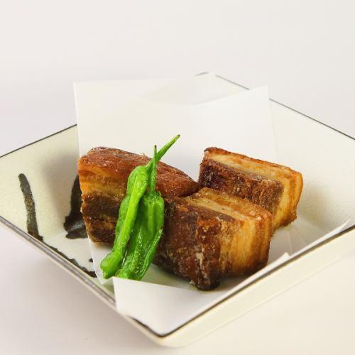 揚げ出し豆腐/煮豚の唐揚げ