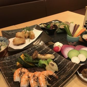 【Japanese sake too OK】 Drinks with banquet course <5 appetizers, 3 dishes of ceremony, dish one item> ◇ 5500 yen → 4500 yen