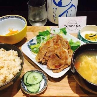 (日替わり)彩り野菜と豚の生姜焼き