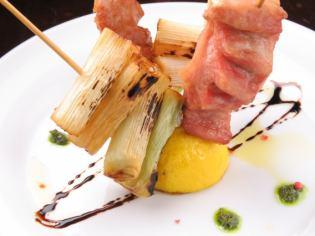 Zao日本X豬托羅和西洋冬季蔬菜串炸