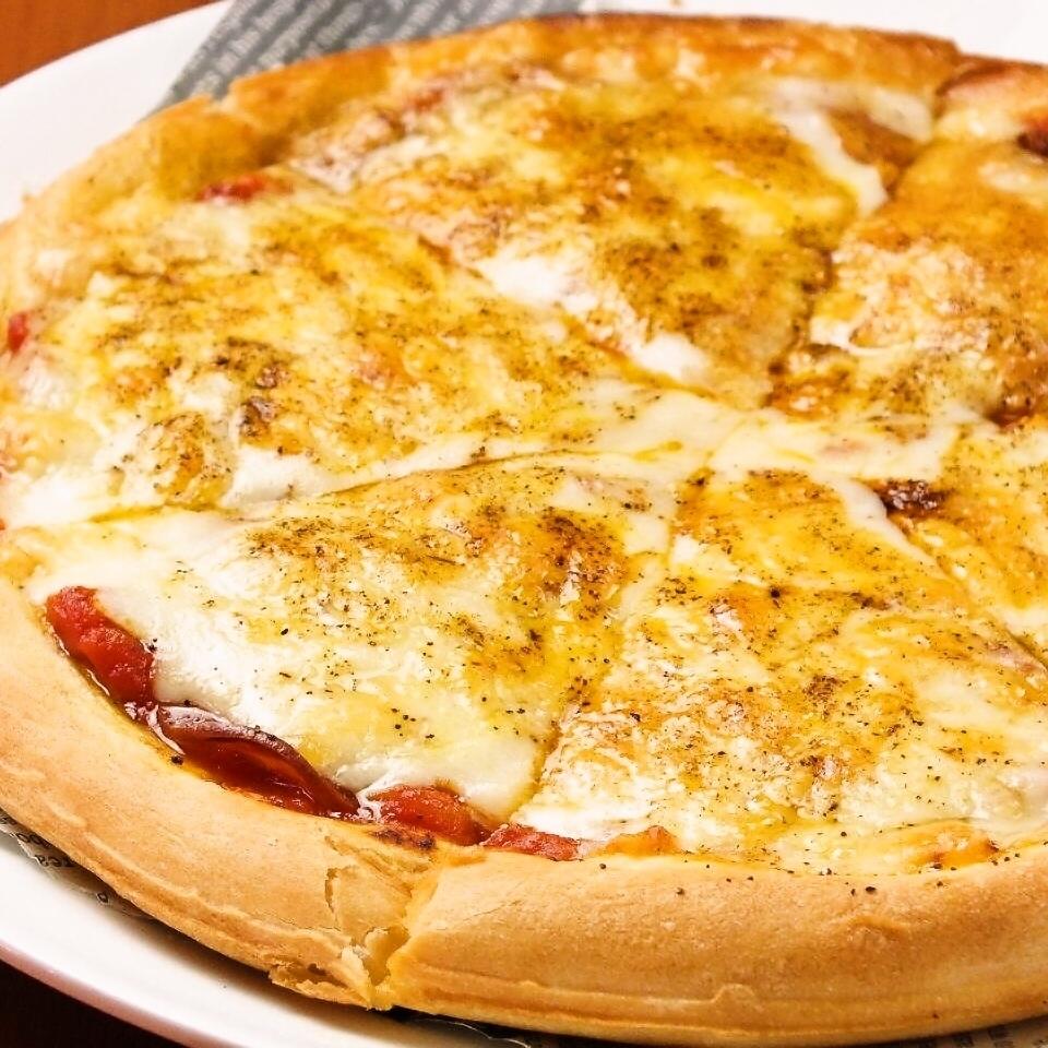 ペパロニサラミのピザ