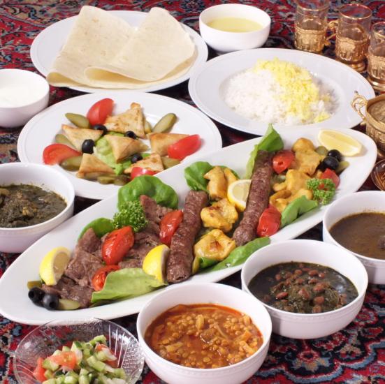 イラン人シェフの作る本格的なペルシャ料理!パーティーも大歓迎です♪