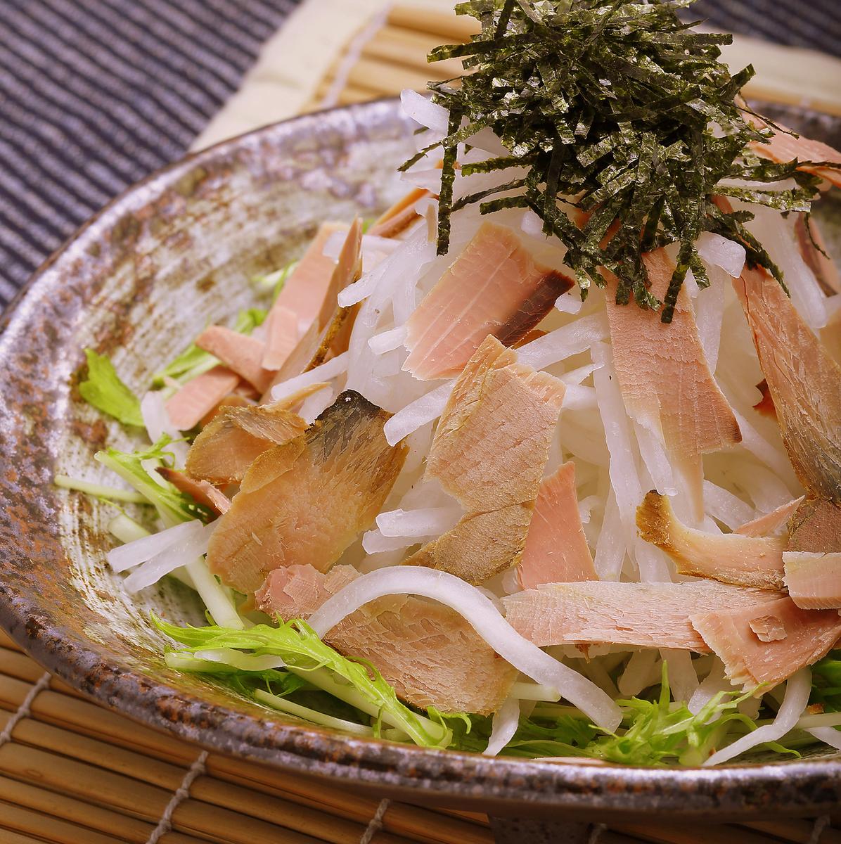 Shakijaki蘿蔔沙拉配鰹魚蔬菜