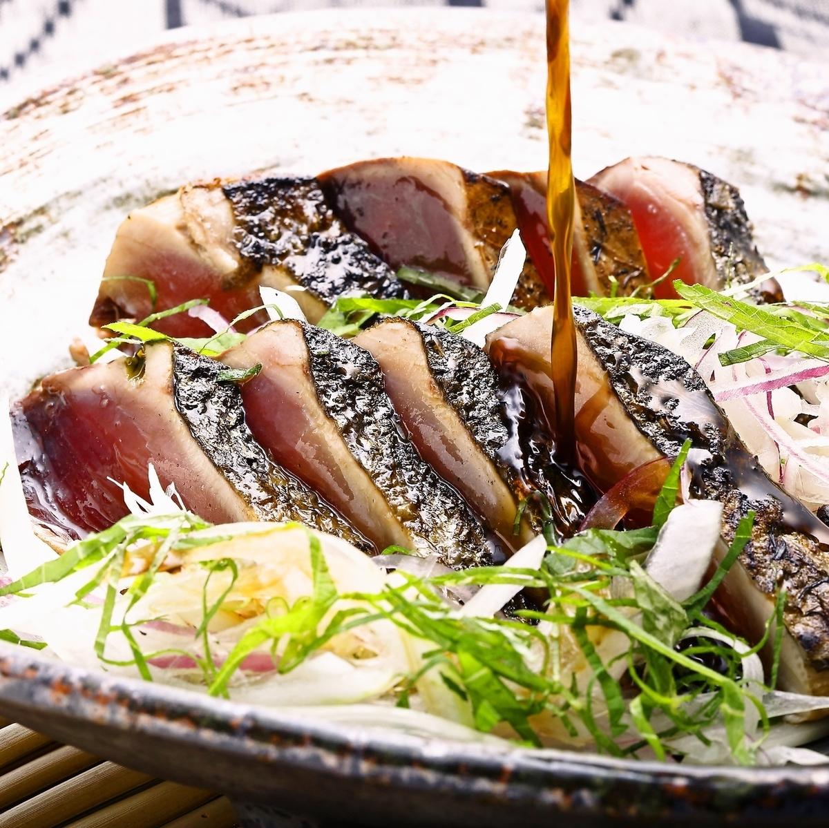 【稻草烤鲣鱼】去皮