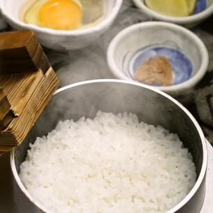 Rice cooked with eggs