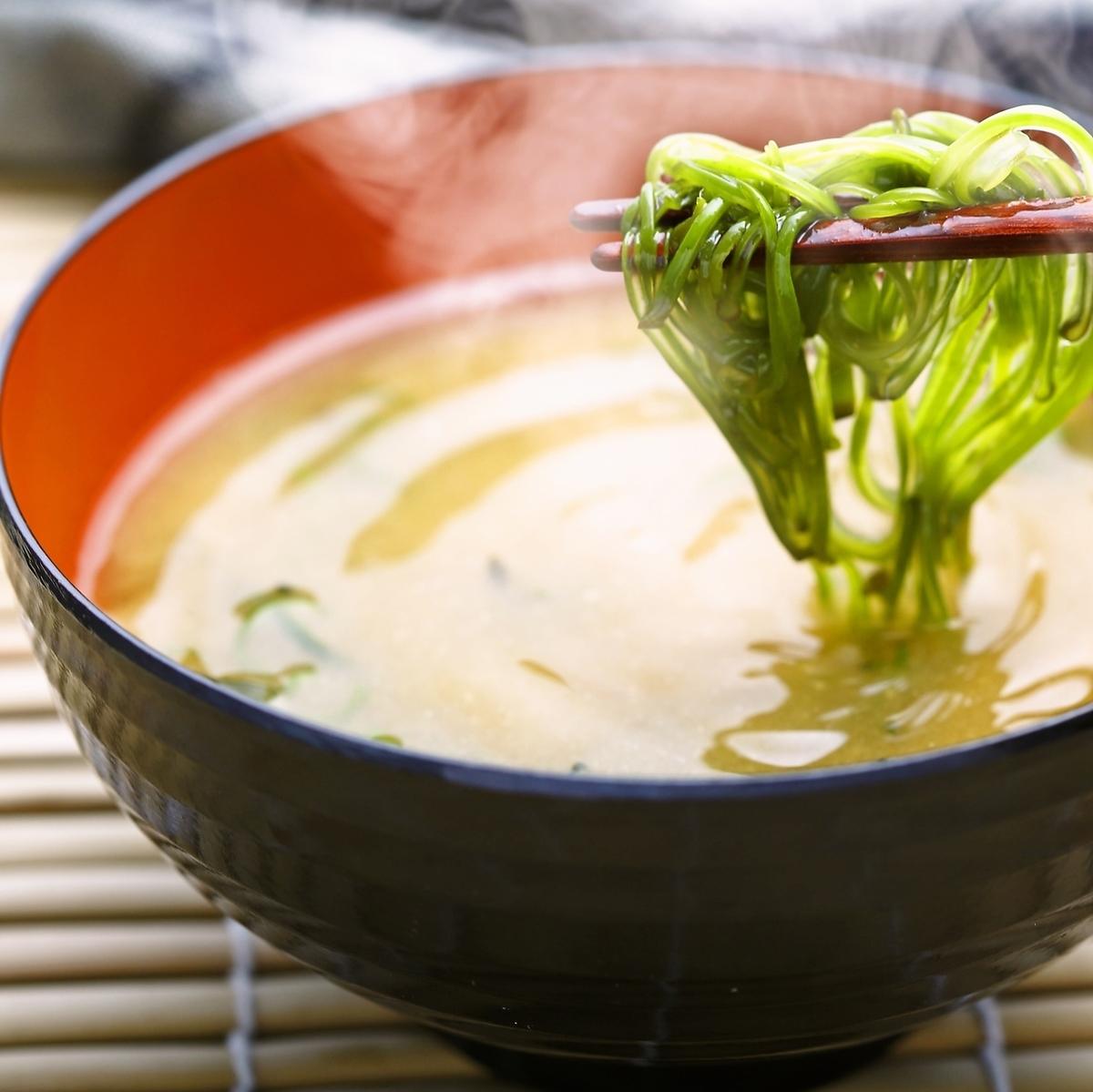 美口味噌湯