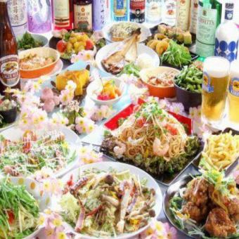 Eating 100 kinds + drinking 800 species all you can eat + stamina pot eating ☆ super slowly 4 hours ⇒Stylish course 3222 yen