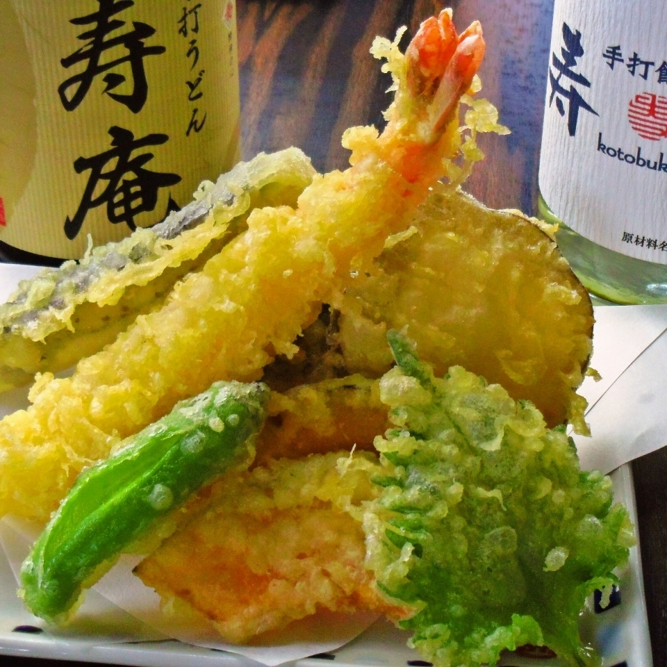 Popular tempura is also included