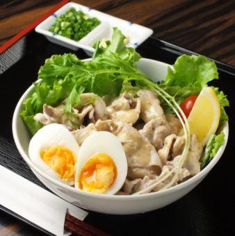 Cold shabu-shabu salad udon