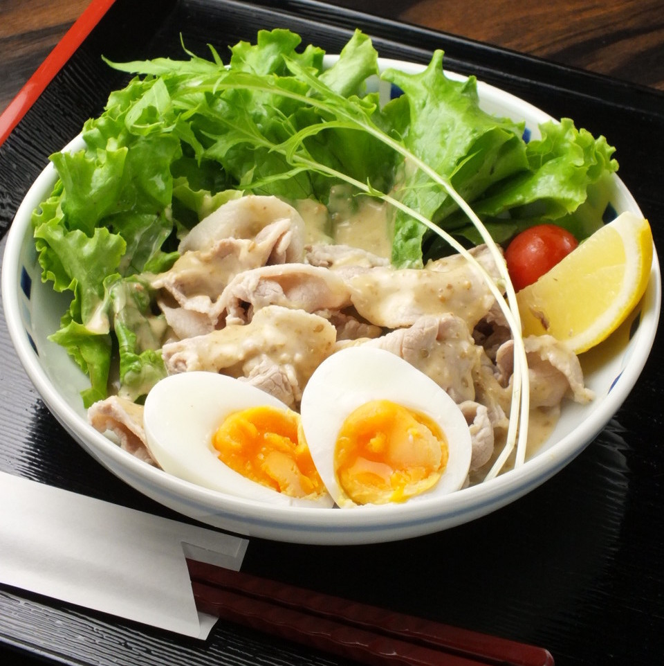 Brand name pork chilled shabu salad