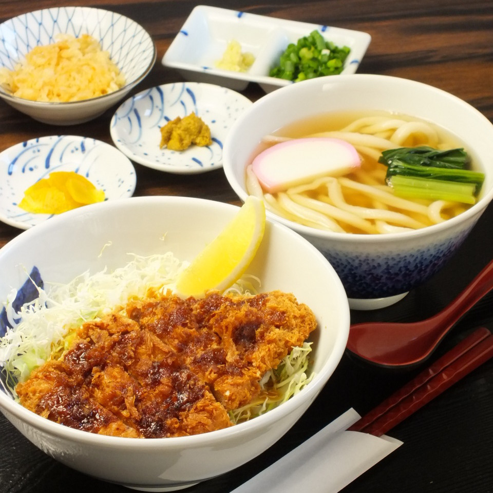 Sauce and bowl set (with cold udon warm)