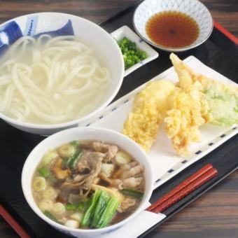 Trio gravy udon yudame