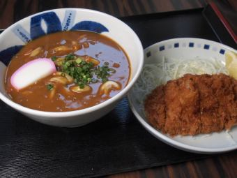 Popular cutlet curry udon