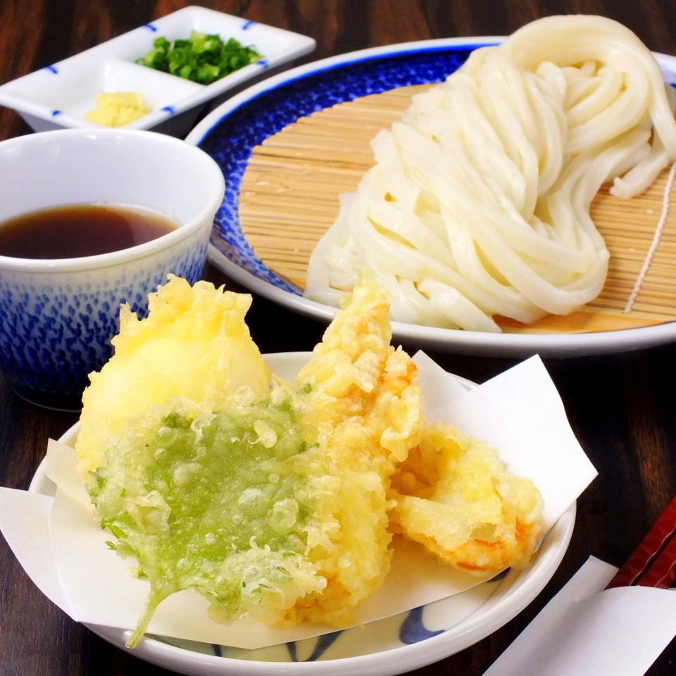 Chiku-Umi squid udon noodles