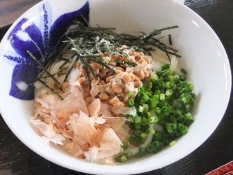 Natto raw soy sauce cold and hot