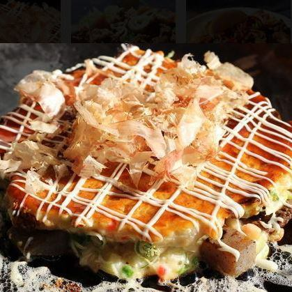 All-you-can-drink 120 minutes Okonomiyaki or yakisoba + iron plate menu etc, all in the menu OK