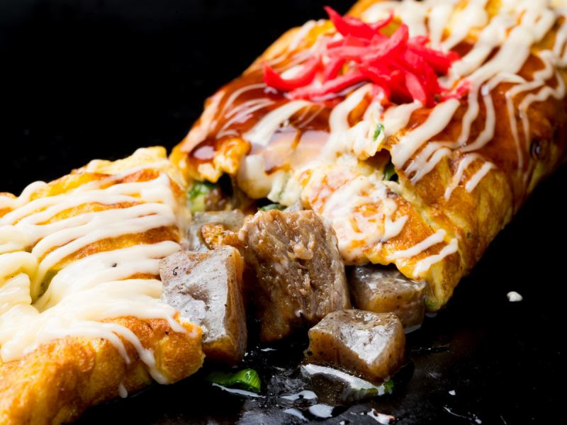 【Winding striped meat and konnyak with eggs】 Suzukon Roll